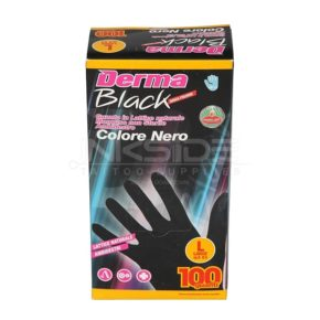 Guanti DERMA BLACK in Lattice senza polvere